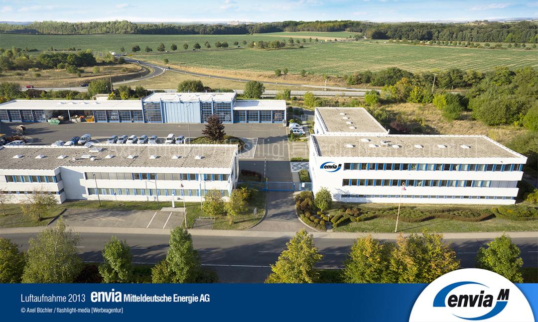 Luftaufnahme envia Mitteldeutsche Energie AG (Grimma)