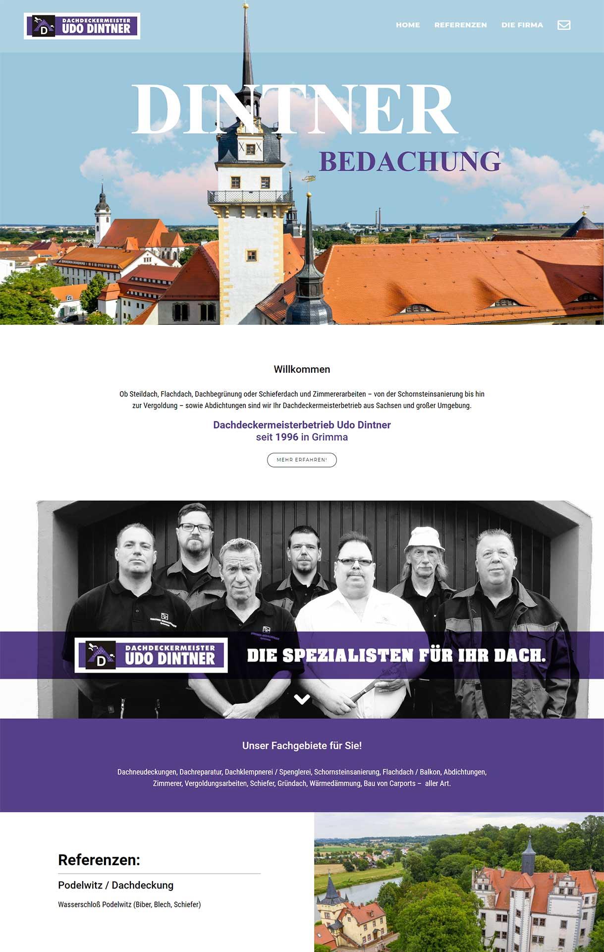 webdesign-flashlightmedia-werbeagentur-leipzig-grimma-startseite-dintner-bedachung-webseite